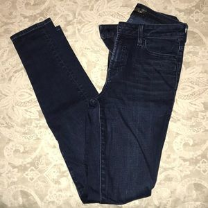 The Castings blue denim high waisted skinny jeans